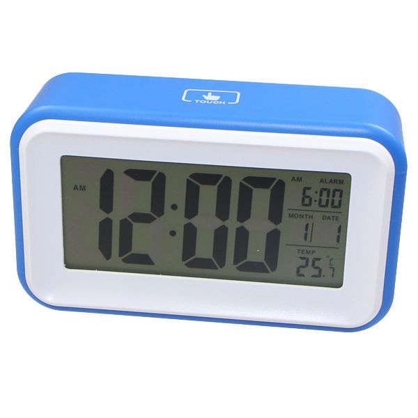 830 LCD Touch Screen Backlight Induction Digital Desk Alarm Clock-Blue ...