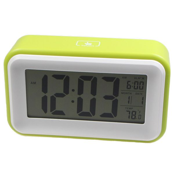 .89 830 LCD Touch Screen Backlight Induction Digital Desk Alarm Clock ...