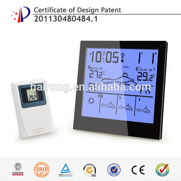 ... alarm touch LCD screen digital radio controlled weather station clock