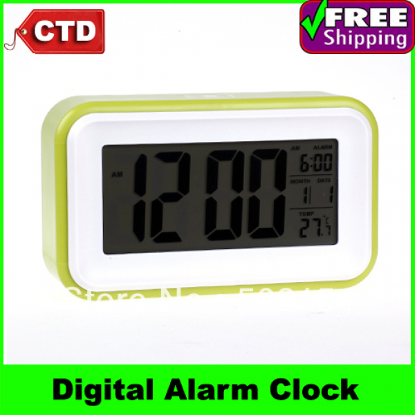 Screen LCD Display Digital Alarm Clock Calendar Thermometer Touch ...