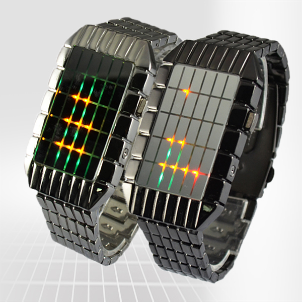 NEW! Influx Cool square lattice Japanese Inspired Digital Binary LED ...