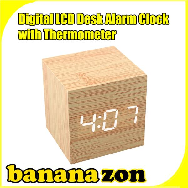 Bamboo LED Digital Clock Time Date Temperature USB (end 5/1/2016 12:15 ...