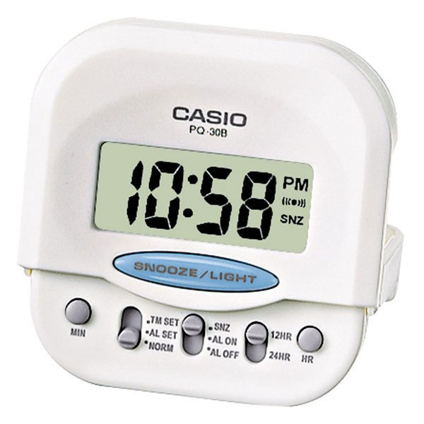casio home appliances casio pq30b 7 compact digital beep alarm clock ...