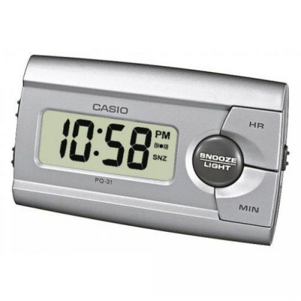 casio home appliances casio pq31 8 digital beep alarm clock silver