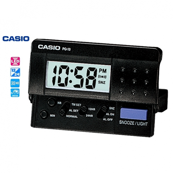 Casio Mini Travel Alarm Digital Clock (Pq-10-1R) | Buy Digital Clocks