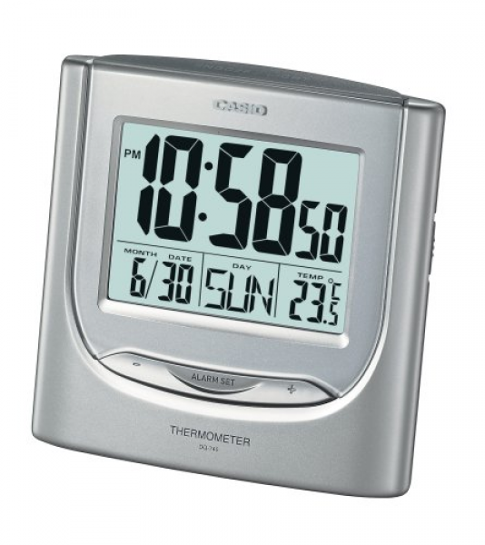 Features of Casio Auto Calendar Thermometer Digital Travel Alarm Clock