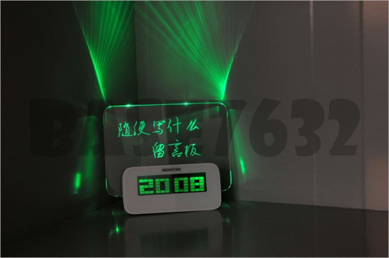 Led Digital Alarm Clock Message with Writing Board + Highlighter Pen