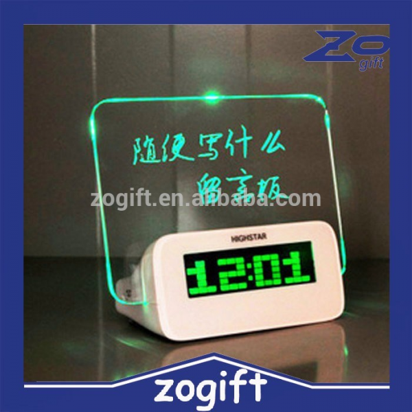 ... LED Message Board Highlighter Digital Alarm Clock 4 Port USB Hub