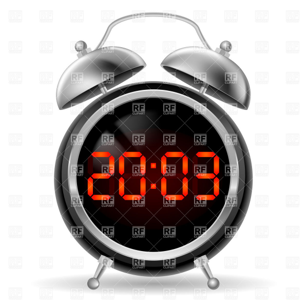 Modern Clock Clip Art Pictures to pin on Pinterest