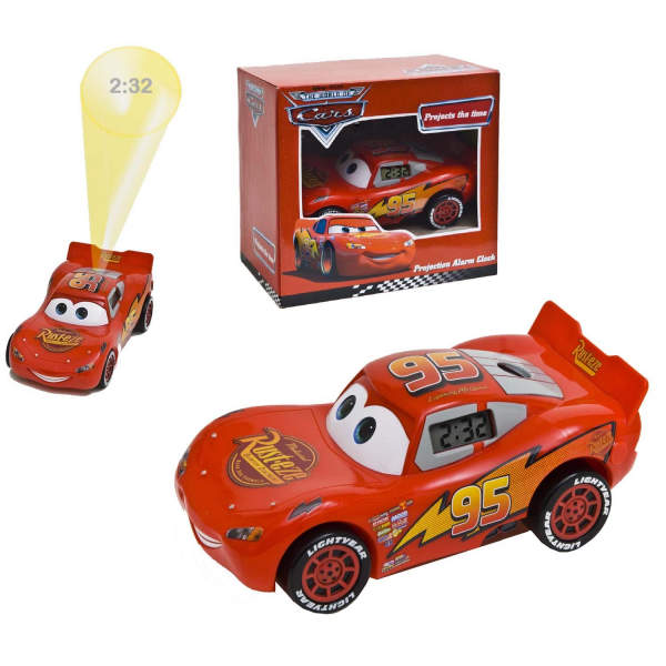 ... Lightening Mcqueen Childrens/Kids Boys Digital Alarm Clock Projector