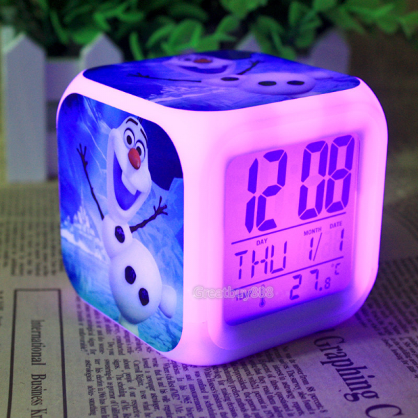 -Frozen-Olaf-Alarm-Clock-with-7-Colors-Change-LED-Digital-Alarm-Clock ...