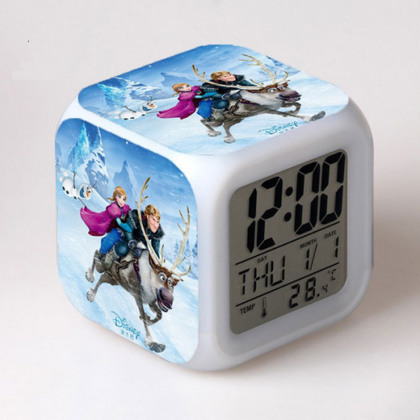 022 Disney Frozen Anna & Kristoff LED Digital Alarm Clock Autochange ...