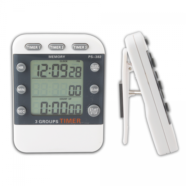 Details about Digital Cooking Clock Timer 3 Channel Count Down Alarm ...