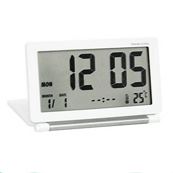 Digital LCD Travel Alarm Clock with Thermometer: Sleek and compact ...