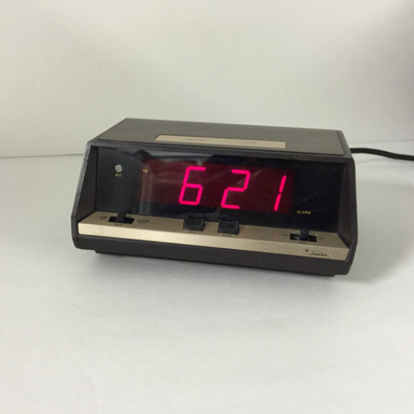 Digital Alarm Clock, Red Lights, Not Pink, All Works, Keeps Time ...