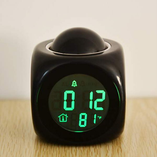 New Multifunction LCD Clock Talking Projection Alarm Clock Time and ...