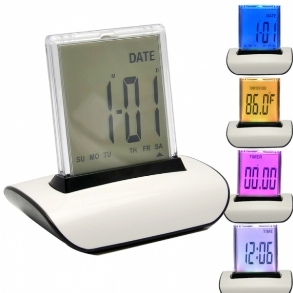LED Alarm Clock Multi-Color Display
