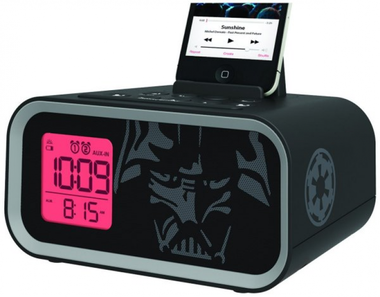 time it is when you use this Star Wars Dual Alarm Clock Speaker System ...
