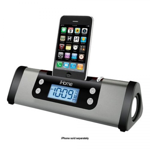 iHome - Portable Alarm Clock Stereo Speaker System for Apple® iPod ...
