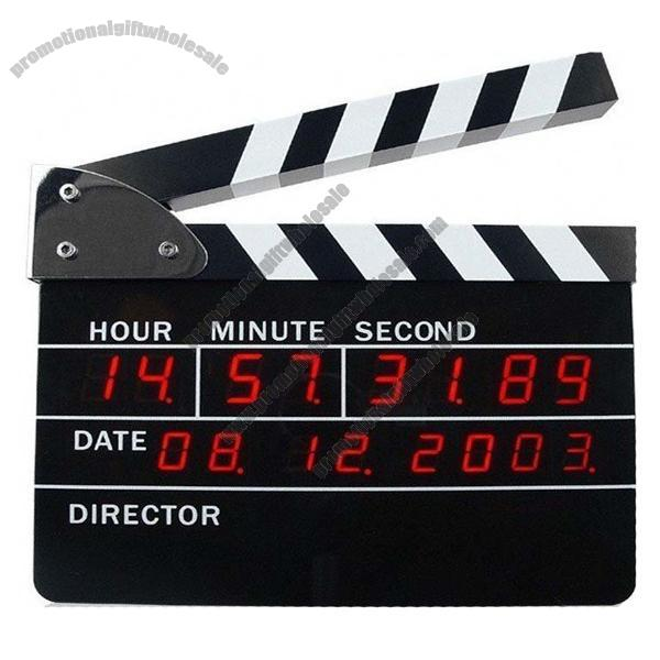 ... Clapboard LED Clock Digital Directors Film Edition w/ Alarm Wall Clock