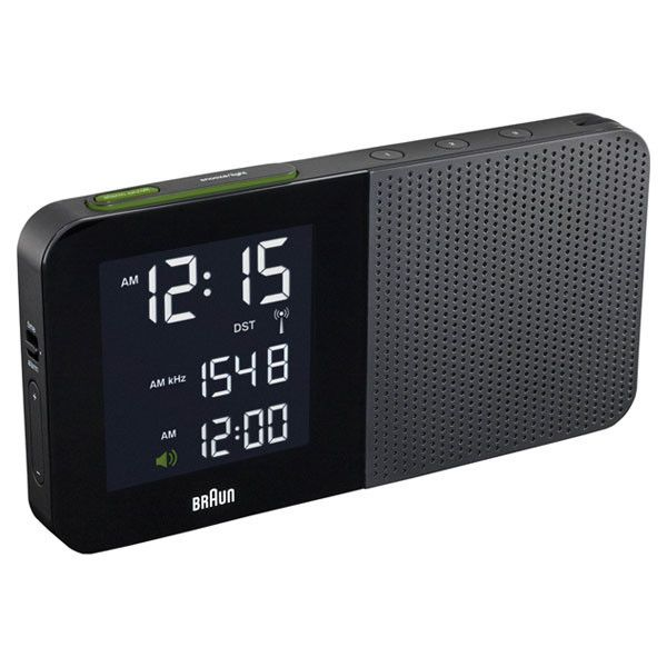 Braun: Digital Alarm Clock Radio, Black (BNC-010-BK-RC)