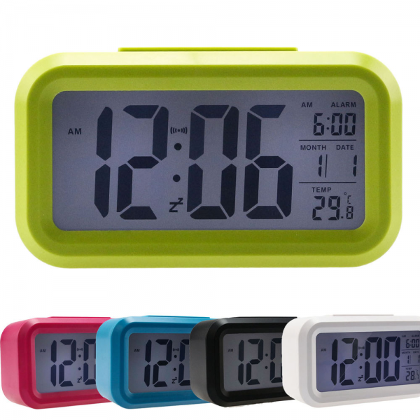 ... Snooze Alarm Clock Backlight Night Light Control Clocks Temp | eBay