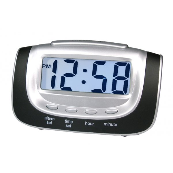 Details about ACCTIM NIGHT GLOW BLACK ALARM CLOCK WITH LCD DISPLAY