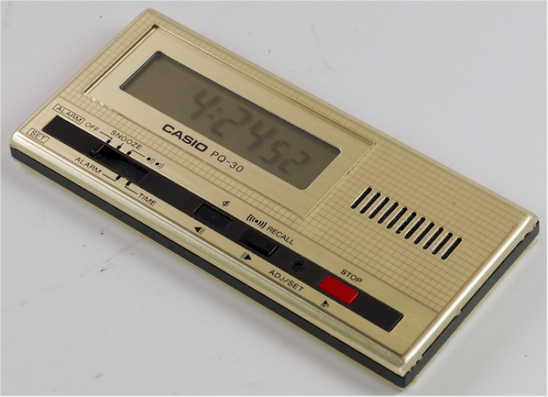 ... about Vintage Pocket LCD Casio PQ-30 Melody Alarm Clock with Pouch