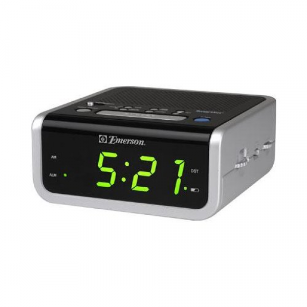 Emerson CKS1702 SmartSet Alarm Clock Radio, Alarm Clock with AM/FM ...