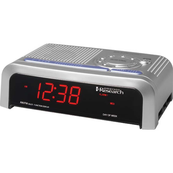 SmartSet Dual Alarm Clock Radio, 0.9 Red LED Display, Dual Alarm ...