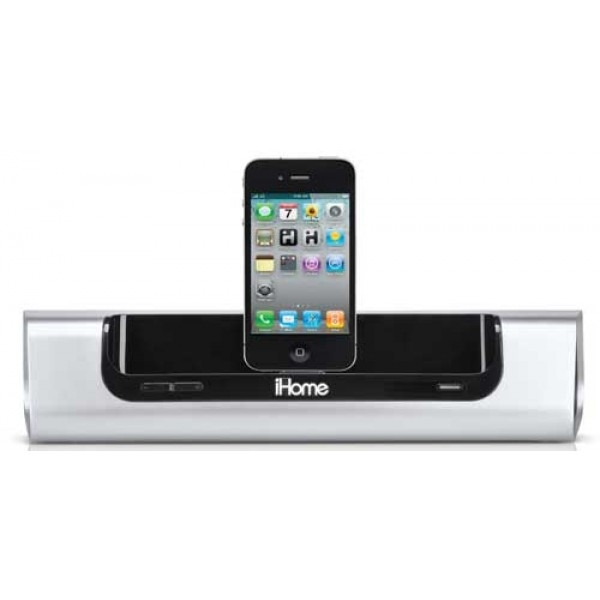 iHome iD9 Oplaadbare Speaker Dock Zilver voor iPad, iPhone en iPod ...