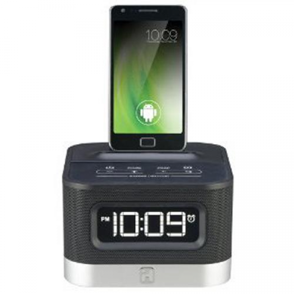 New iHome IC50 Stereo Alarm Clock Radio Android Smartphone Docking ...