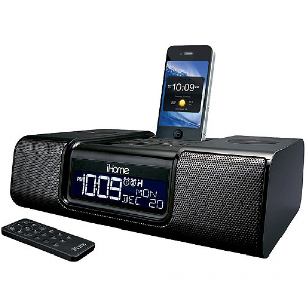 iHome IA9BZC App Enhanced Dual Alarm Clock Radio Black, iHome iPhone ...