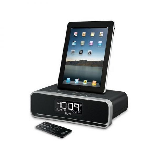 SDI iHome iD91 App-enhanced Dual Alarm Stereo Clock Radio iPhone, iPod ...