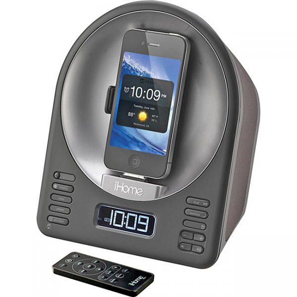 iHome iA63 App-Enhanced Alarm Clock with FM Radio and Motorized ...