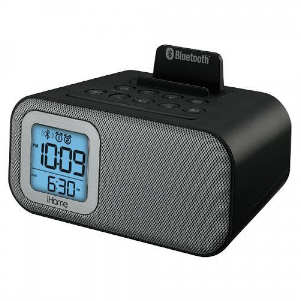 iHome IBT22BC Bluetooth Dual Alarm Clock, With USB Charging And Line ...