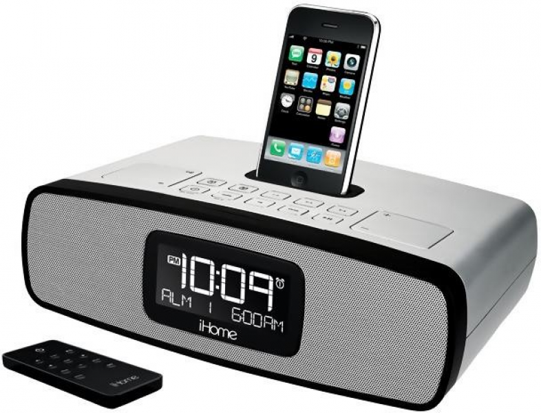 iHome iP90 Dual Alarm Clock Radio with AM/FM Presets and Dock for iPod ...