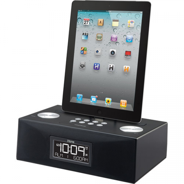 iHome ID83BZC App-Enhanced Dual Alarm Clock Radio for iPad / iPhone ...