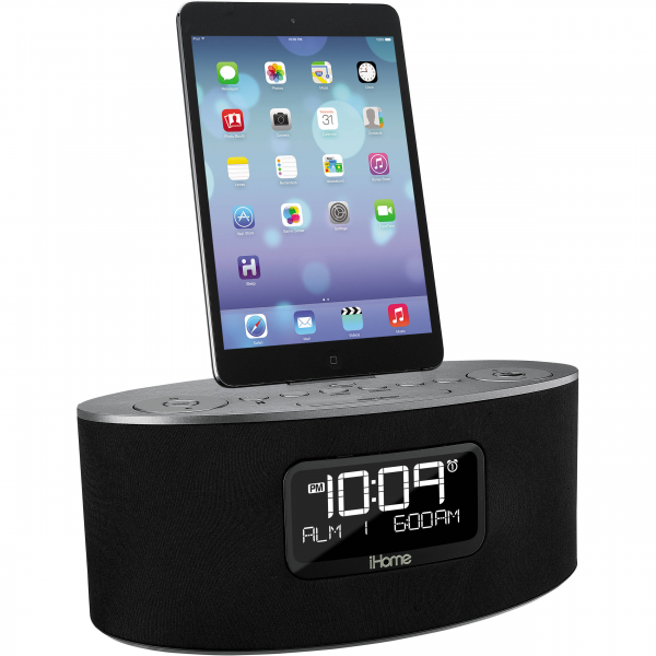 iHome iDL46 Stereo Dual Alarm Clock Radio iPad, iPhone, IDL46GC