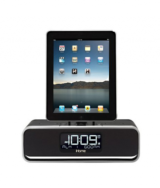 iHome iD91 Dual Alarm Stereo Clock Radio for iPhone/iPod/iPad with FM