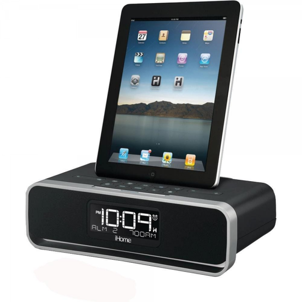 iHome IDL91 Dual Charging Stereo FM Clock Radio with Lightning Dock ...