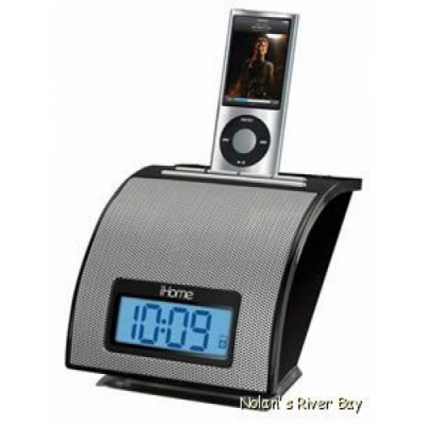 iHome Space Saver Alarm clock with iPod Dock IH-IH11BVC