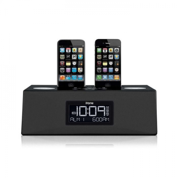 iHome iP86 Alarm Clock with Dock for iPod® and iPhone®