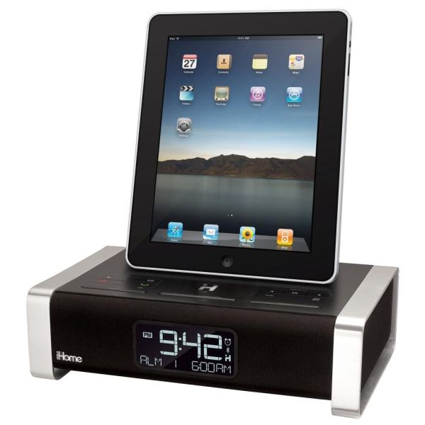 iHome iA100 Alarm Clock Speaker System with Bluetooth