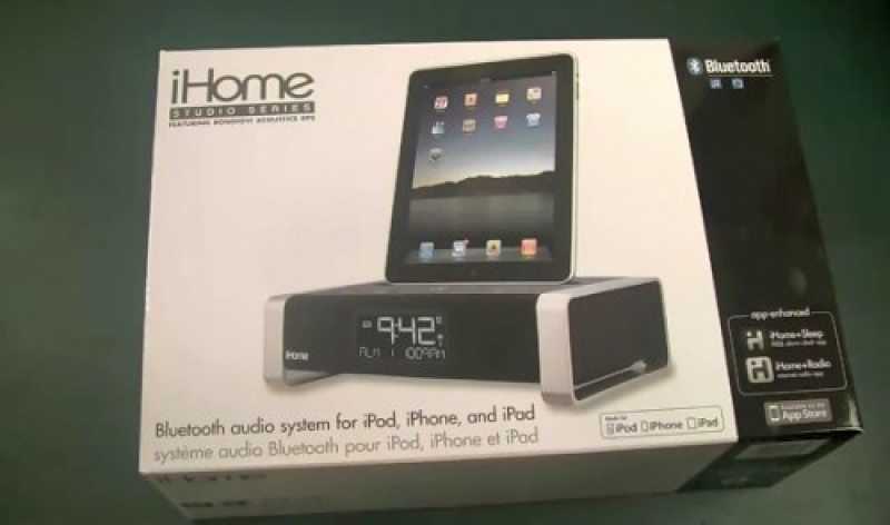 The YouTube user mocciat unboxes of the iHome iA100 Alarm Clock for ...