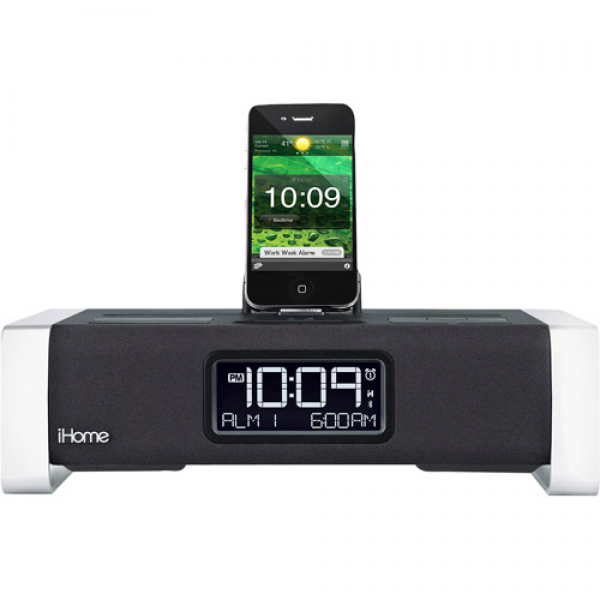 iHome iA100 Bluetooth Alarm Clock Radio for iPhone/iPod/iPad - Walmart ...
