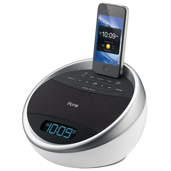 Tags: Alarm Clock dock speaker docking station FM radio iHome iPhone ...
