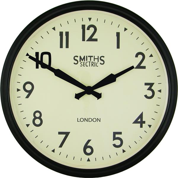 Smiths Large Retro Black Wall Clock,jpg