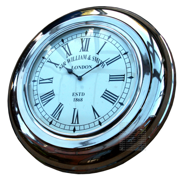Large Vintage Aluminium Wall Clock | Retro Clock - £119.00