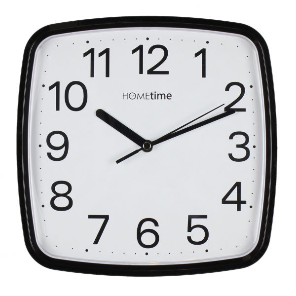 Retro Square Black Silent Sweep Wall Clock